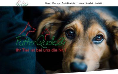Eine neue Webseite für Futterquelle24