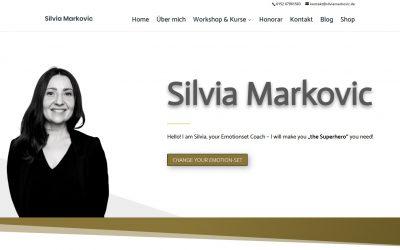Eine neue Webseite für Emotionset Coach Silvia Markovic