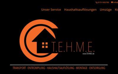 Eine neue Webseite für TEHME Transport Entrümplung Haushaltsauflösung