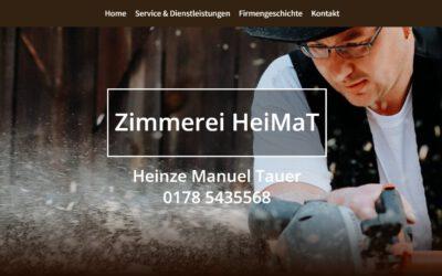 Eine neue Webseite für die Zimmerei HeiMaT in Tauer